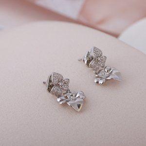 Kate Spade Double Flower Inlaid Zircon Earrings